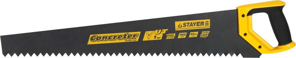 Ножовка STAYER MASTER по пенобетону, 2х-комп. рукоятка 1TPI 700мм