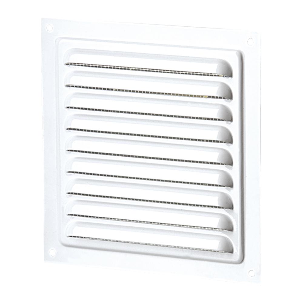 Решетка вентиляционная Viento РМ вытяжная стальная, 150х150 белая