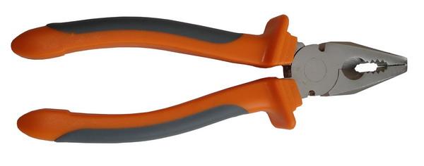 Плоскогубцы KORVUS двухкомпонентная рукоять, 200мм