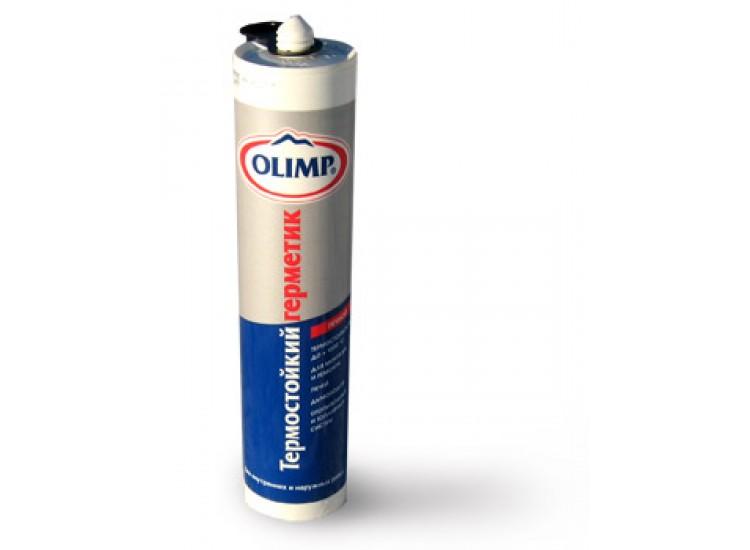 Герметик ОЛИМП термостойкий 290мл черный