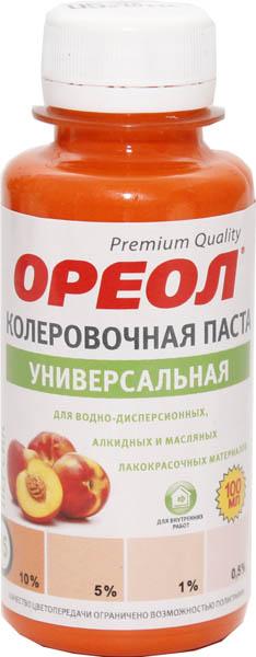 Паста колеровочная Ореол универсальная, зеленый 100мл №24