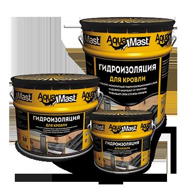 Мастика для кровли AquaMast битумно-резиновая, 3 кг