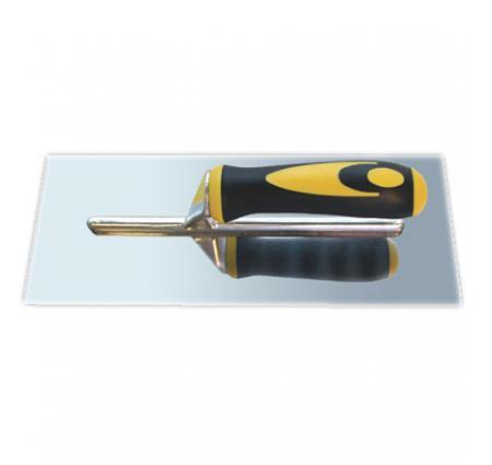 Кельма 888 из нержавеющей полированной стали с резино-пластиковой ручк
