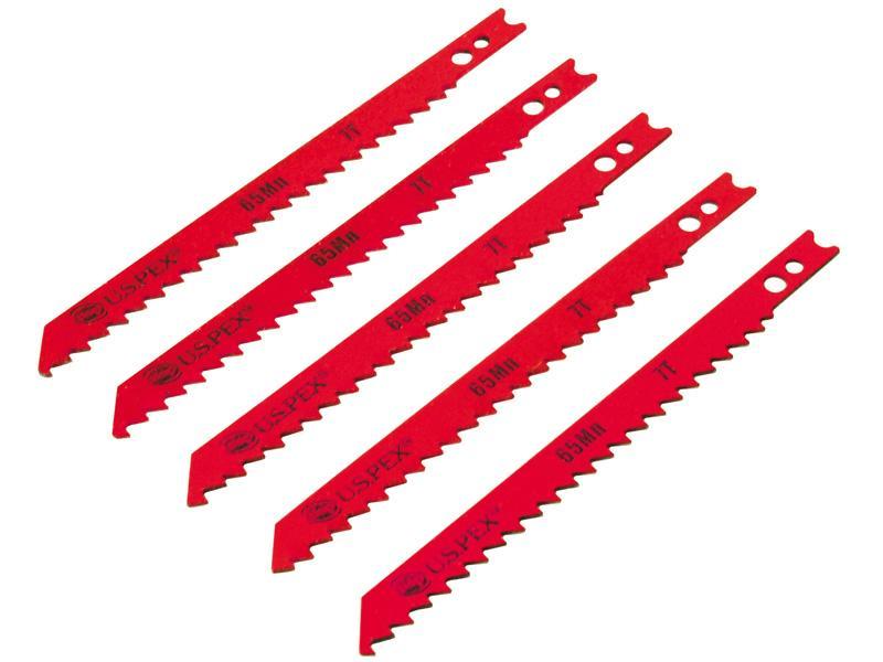 Полотна U.S.Pex для электролобзика по дереву, 75мм, зуб-10Т, U-хвост,