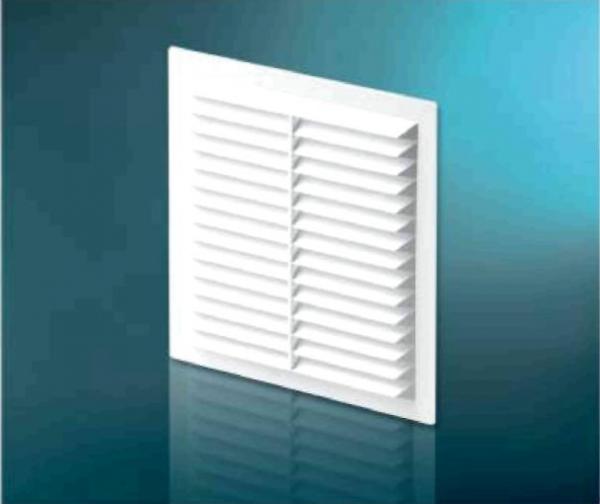 Решетка вентиляционная DOSPEL 007-0177 D235 W накладная 234x234 мм