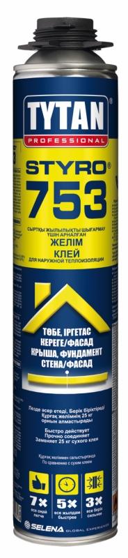 Клей Tytan Professional Styro 753 GUN полиуретановый для наружной тепл