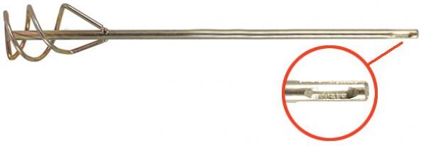 Миксер FIT для строительных смесей Профи, хвостовик SDS-Plus, 80x400мм