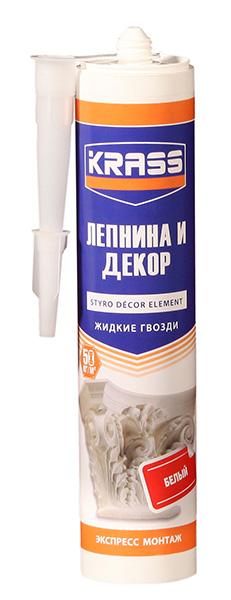 Жидкие гвозди KRASS для стиропора и панелей Экспресс монтаж, Белый 300