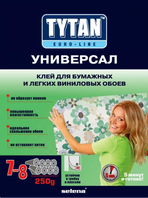 Клей TYTAN Euro-Line УНИВЕРСАЛ для бумажных и легких виниловых обоев,