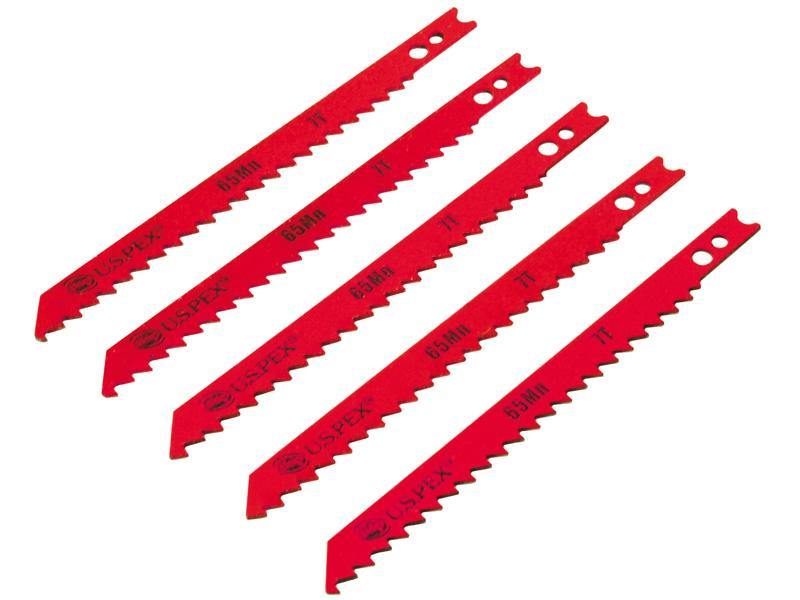 Полотна U.S.Pex для электролобзика по дереву, 75мм, зуб-7Т, U-хвост, 5