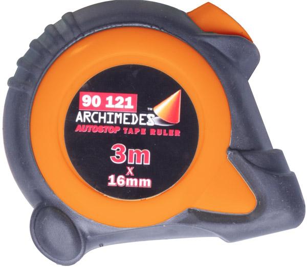 Рулетка Archimedes измерительная с автостопом 3м х 16мм