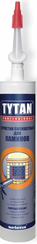 Герметик Силикатный Tytan Professional для Каминов черный 310мл