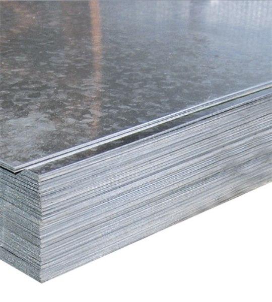Лист плоский оцинкованный 1,25х2,5м, 0,55мм