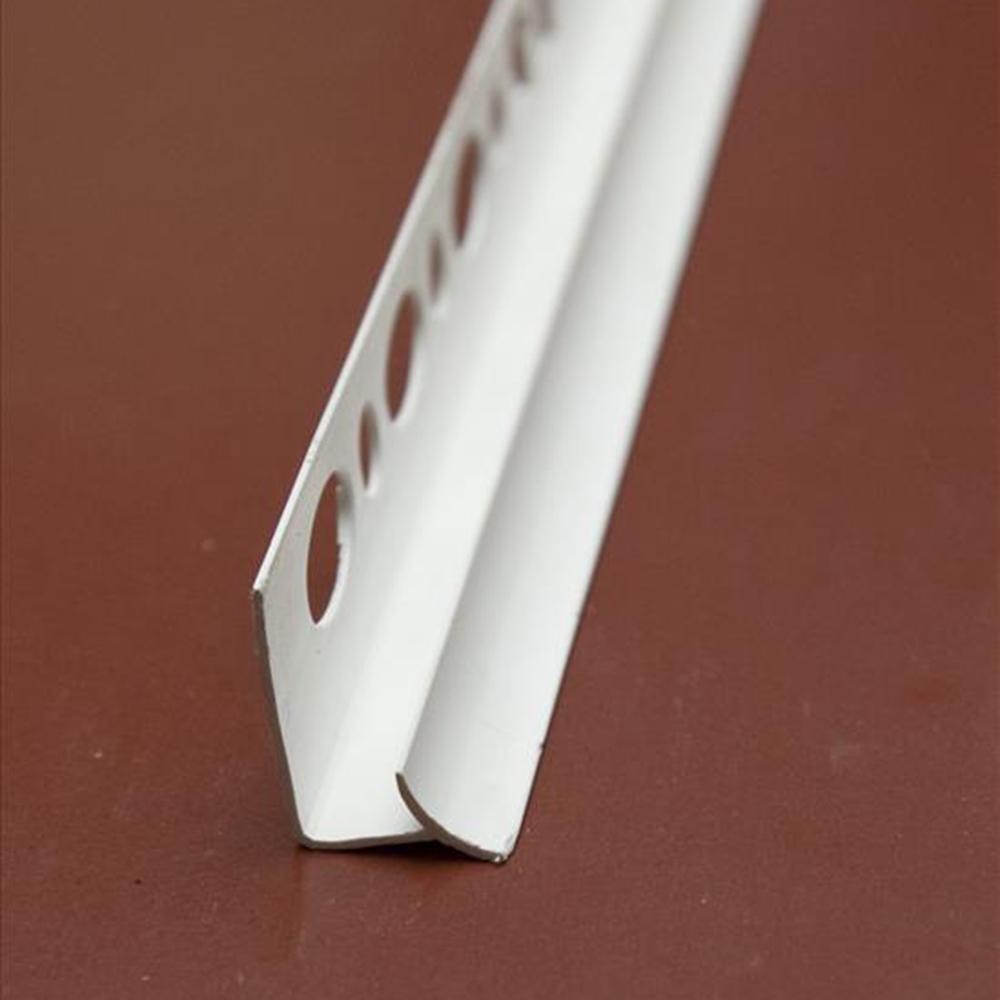 Уголок для кафеля ПВХ внутренний, 7мм, 2,5м, белый