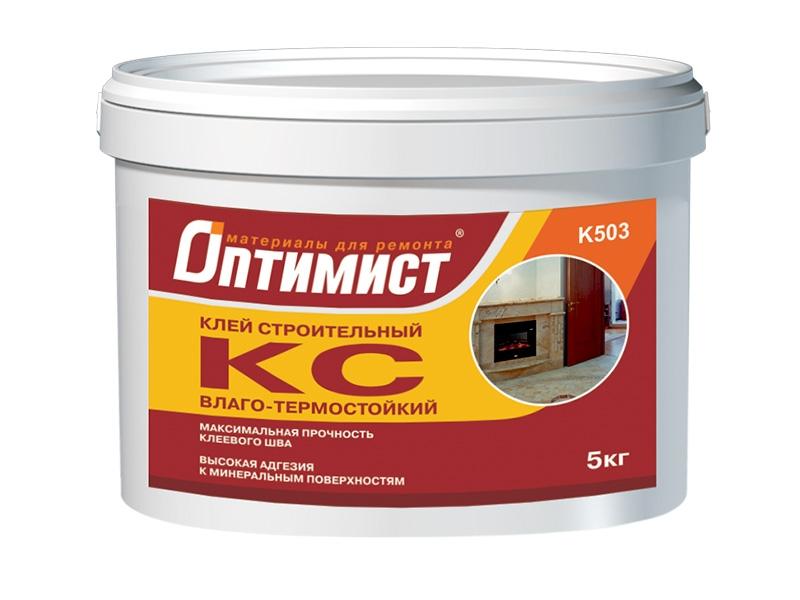 Клей КС ОПТИМИСТ строительный для внутренних работ, 9 кг