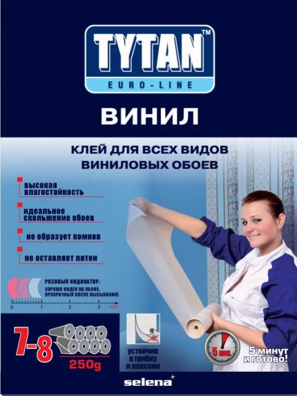 Клей TYTAN Euro-Line ВИНИЛ для всех видов виниловых обоев, 250г