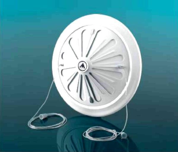 Решетка вентиляционная DOSPEL 007-0271 D/15 WR с механической заслонкой под круглый канал 80-160мм