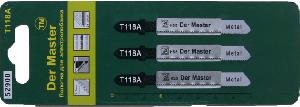 Полотна дэлектролобзика Дер Мастер, для резки металла и дерева, набор