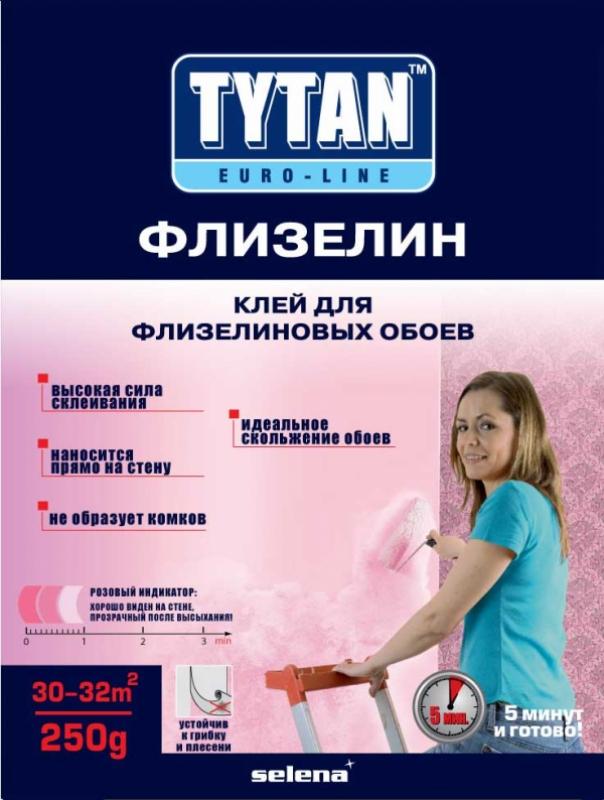 Клей TYTAN Euro-Line ФЛИЗЕЛИН для флизелиновых и стеклообоев, 250г
