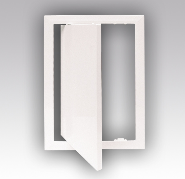Люк-дверцы ревизионные ERA Л с фланцем пластиковые, dark gray metal, 1