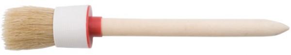 Кисть круглая DECOR №12-45мм, натуральная светлая щетина, деревянная р