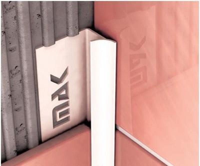 Уголок DEX для кафеля ПВХ внутренний, 7мм