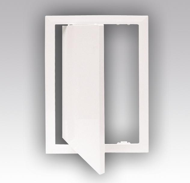 Люк-дверцы ревизионные ERA Л с фланцем пластиковые, gray metal, 200х20