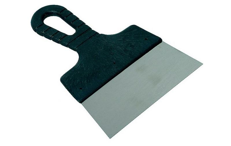 Шпатель DECOR нержавеющая сталь с черной ручкой 40мм